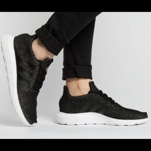 womens black adidas swift run